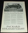 1923 Packard Straight Eight Car Ad - New Principles!!