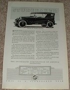 1923 Studebaker Big Six Touring Car Ad