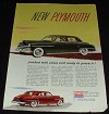 1950 Plymouth Car Ad, Packed with Value NICE!
