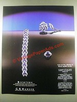1985 Richters Jewelry Ad - Van Cleef and Arpels Brooch