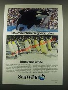 1985 Sea World Ad - Color Your San Diego Vacation