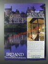 1985 Ireland Tourism Ad - Look at Our Castles