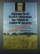1985 Rohm and Haas Dithane M-45 Ad - Health Insurance