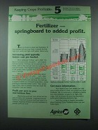 1985 Agrico Fertilizer Ad - Springboard to Added Profit