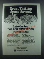 1985 Southern States Bush Jubilee Watermelons Ad
