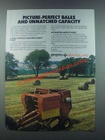 1985 Sperry New Holland Baler Ad - Picture-Perfect