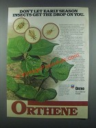 1985 Ortho Orthene Ad - Early Season Insects