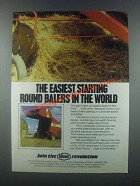 1985 Vicon Round Balers Ad - Easiest Starting