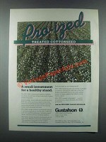 1985 Gustafson Pro-Ized Treated Seed Ad - Cottonseed