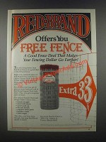 1985 Keystone Steel & Wire Red Brand Fence Ad
