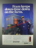 1985 Allied Fram Oil Filter Ad - Keeps Down-Time Down