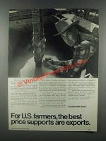 1985 Continental Grain Ad - Best Price Supports Exports