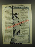 1985 The Statue of Liberty-Ellis Island Foundation Ad