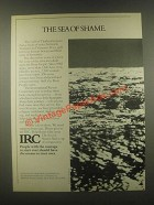 1985 IRC International Rescue Committee Ad - Sea Shame