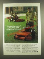 1985 Gravely Pro and Pro Master Mowers Ad