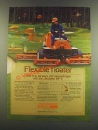 1985 Textron Jacobsen HF-5 Mower Ad - Flexible Floater