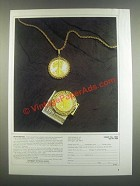 1985 Cartwheels Inc. Gold Coin Necklace & Money Clip Ad - Never Before