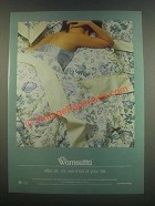 1985 Wamsutta Clenny Run Supercale Plus Sheets Ad