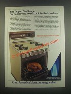 1985 Tappan Gas Range Ad - People Who Love to Cook
