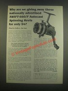 1985 Abernathy & Closther Swift-600/F Autocast Reel Ad