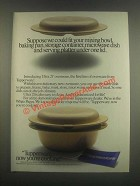1985 Tupperware Ultra 21 Ovenware Ad - Under One Lid