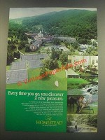 1985 The Homestead Ad - Discover a New Pleasure