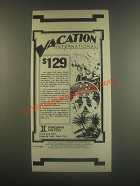 1985 Niagara Hilton Ad - Vacation International