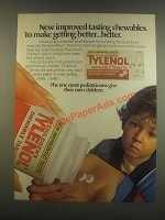 1985 Children's Tylenol Chewable Tablets Ad
