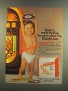 1985 Huggies Diapers Ad - Roger's Really Rocking