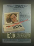 1985 Roux F-5000 Color Computer Ad