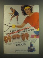 1985 Secret Deodorant Ad - A Woman's Perspiration