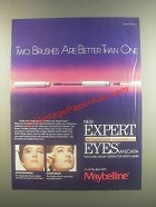 1985 Maybelline Expert Eyes Mascara Ad - Better Than