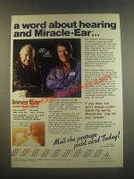1985 Miracle-Ear Ad - Chuck Yeager, Wally Schirra