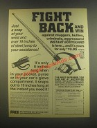 1985 Deer Creek Instant Bodyguard Ad - Fight Back