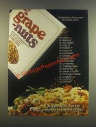 1985 Post Grape-Nuts Ad - Shake the Nutty Crunch