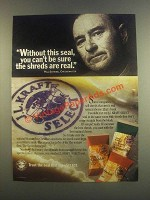1985 J.L. Kraft Select Cheese Ad - Without This Seal
