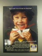 1985 Kraft Singles Ad - Shortchange My Shortstop