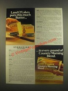 1985 Land O Lakes Country Morning Blend Butter Ad