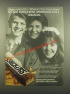 1985 Snickers Candy Bar Ad - After School