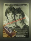 1985 Snickers Candy Bar Ad - When He Comes Home