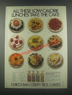 1985 Chico-San Crispy Rice Cakes Ad - Low-Calorie