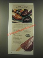 1985 Cole-Haan Shoes Ad - How to Size Up