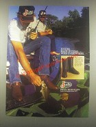 1985 Justin Roper #3025 Boots Ad - Made in Texas