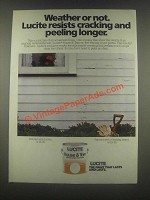 1985 Lucite House & Trim Paint Ad - Weather or Not