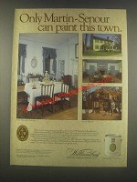 1985 Martin-Senour Williamsburg Paint Ad - Paint Town