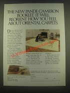 1985 Pande Cameron Carpets Ad - It Will Reorient