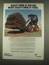 1985 Melroe Bobcat Ad - Quality Work at Our End