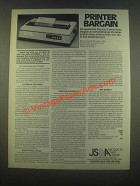 1985 JS&A Printer Ad - Printer Bargain