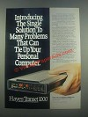 1985 Hayes Transet 1000 Modem Ad - The Single Solution
