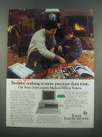 1985 Texas Instruments Medical Billing System Ad